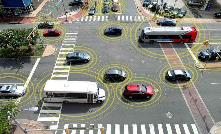 car gps system sensors at work