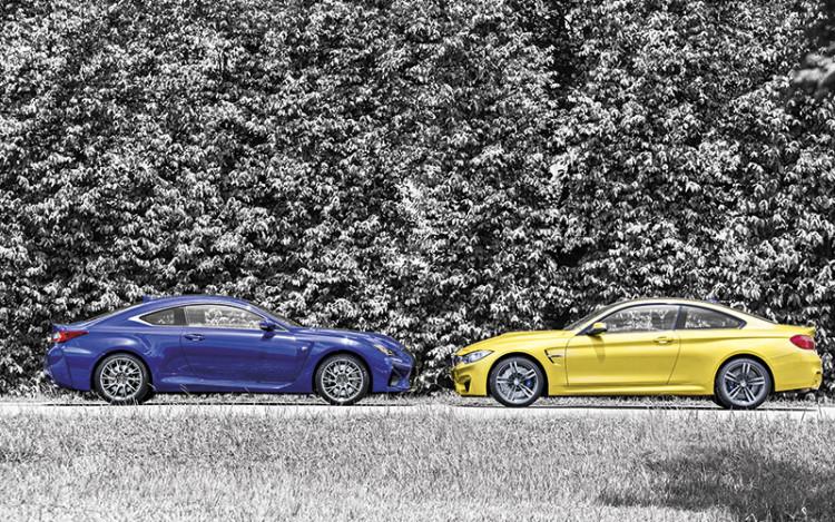 Lexus-RC-F-vs-BMW-M4-headtohead