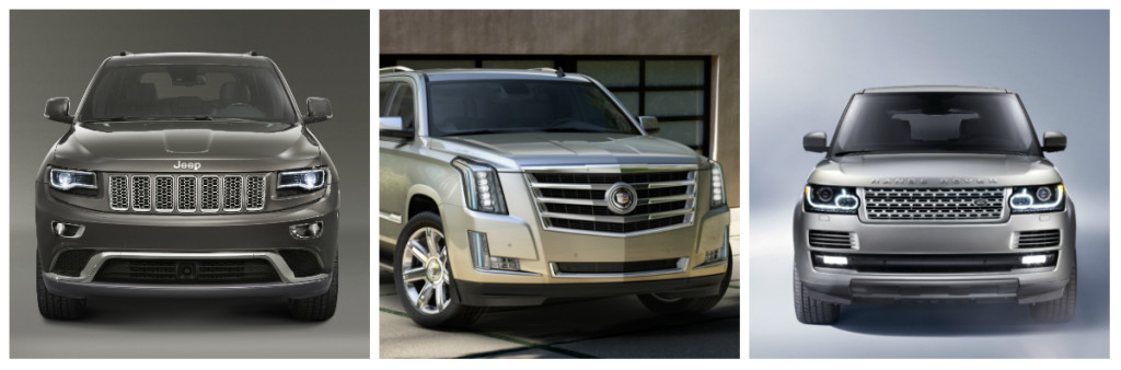 Jeep Grand Cherokee, Cadillac Escalade, Land Rover Range Rover – monstrous SUVs that torture Mother Nature.
