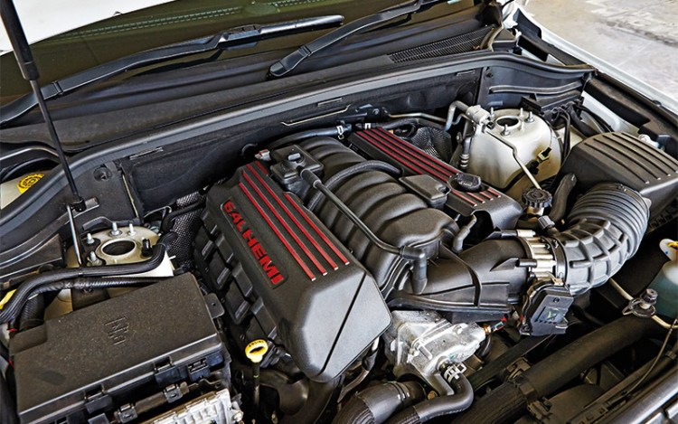 SRT8's 6.4L V8 is quieter than expected.
