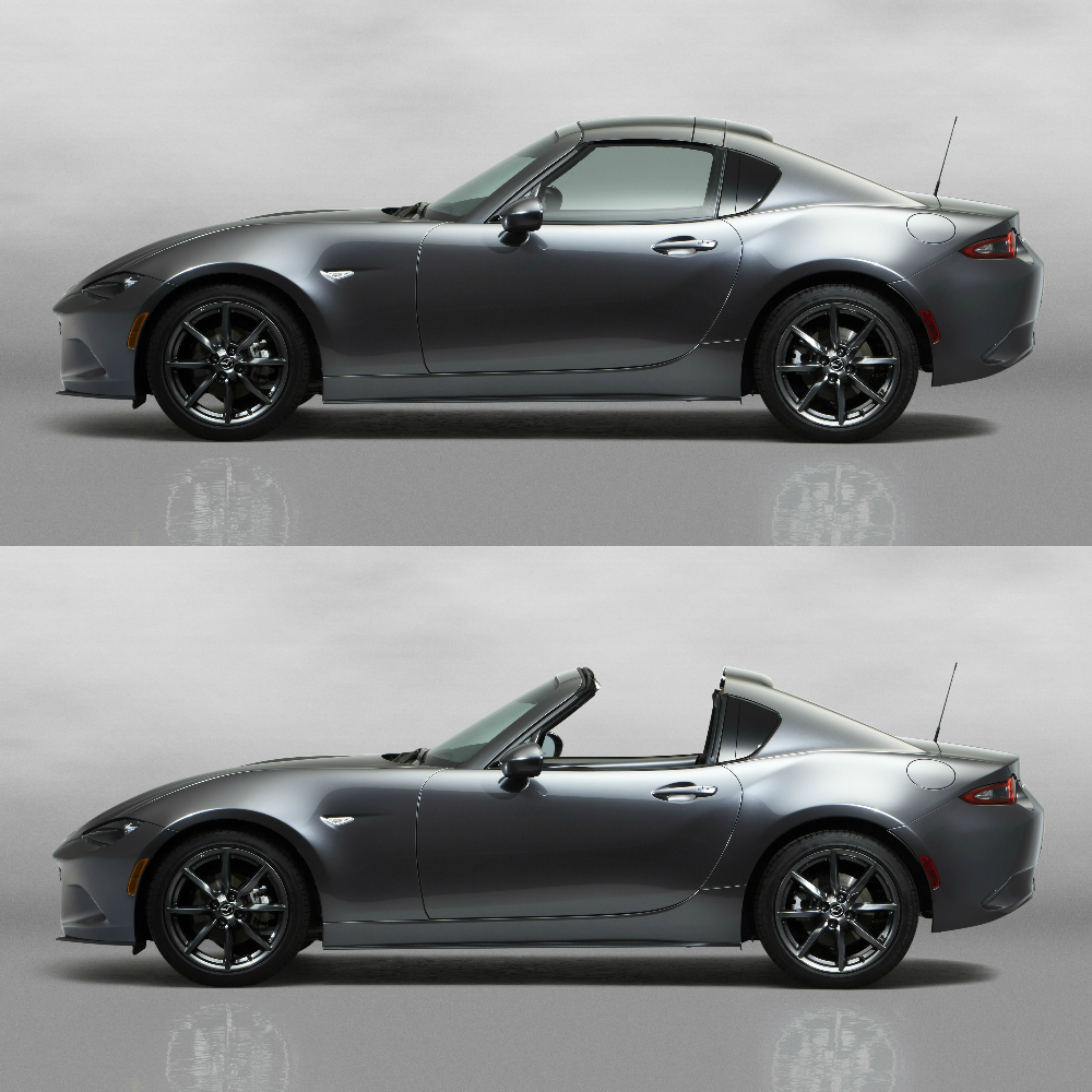 """The """"retractable fastback"""" of the MX-5 RF is a cool way to drop/deploy the hard-top."""
