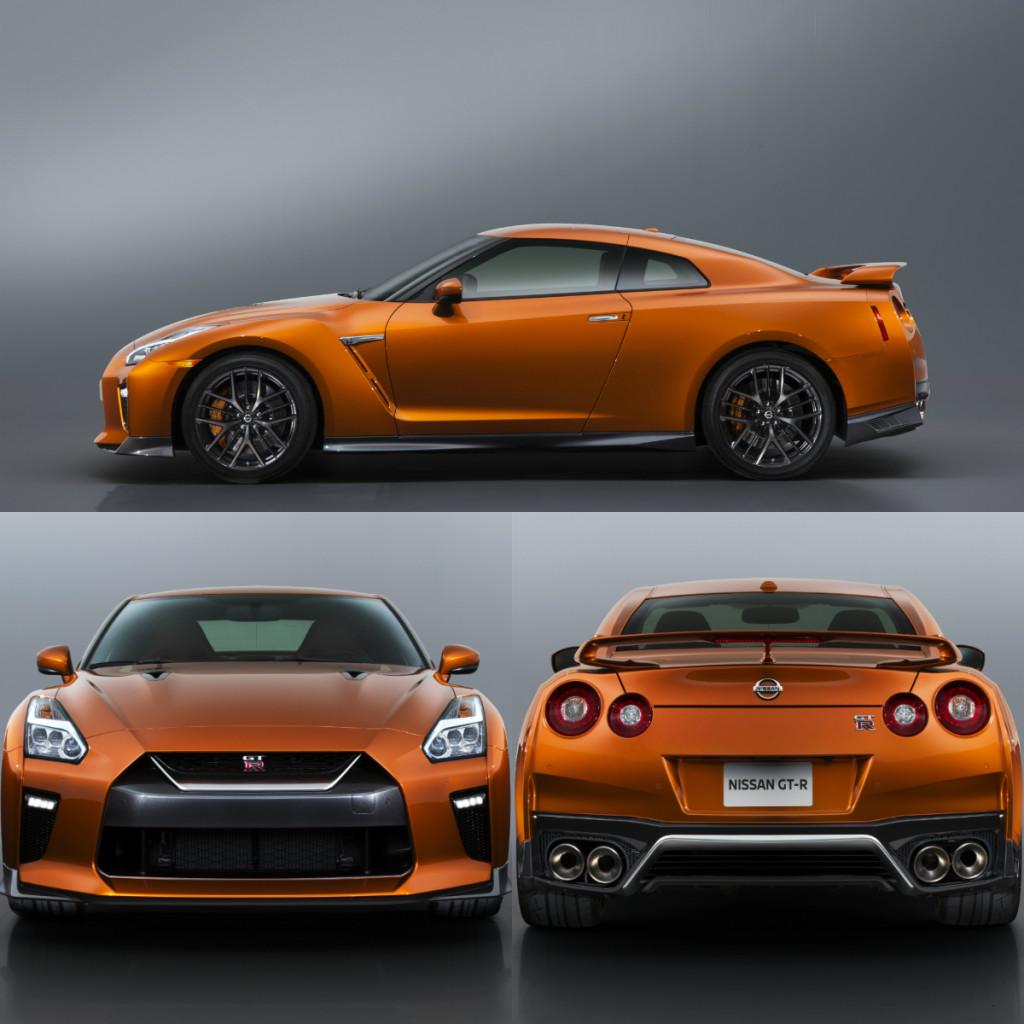 The 2017 GT-R looks great in Blaze Metallic, an orgasmic orange paint job.