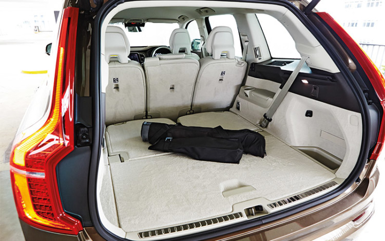 The XC90's boot, though smaller, offers more underfloor storage.