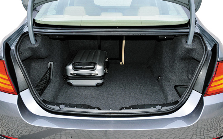 Luggage compartment unchanged in capacity, but the layout is more cargo-friendly.