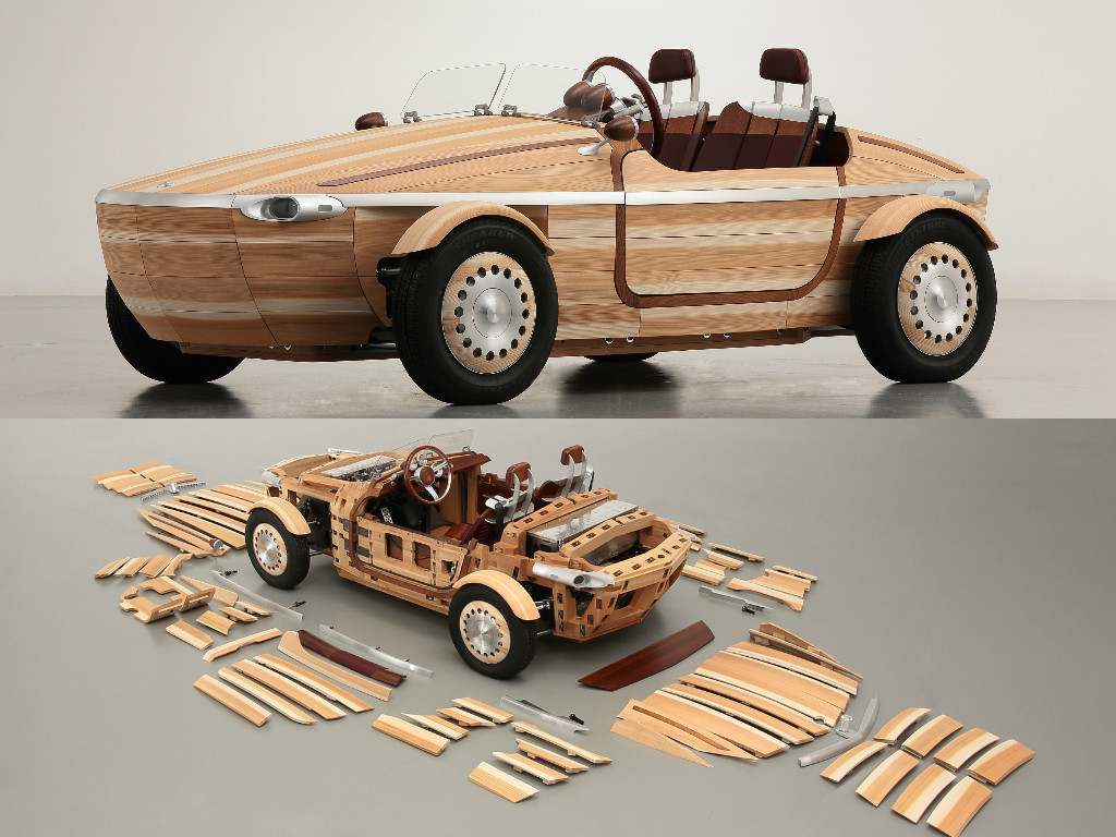 toyota, setsuna concept, toyota setsuna concept, wooden roadster pic3
