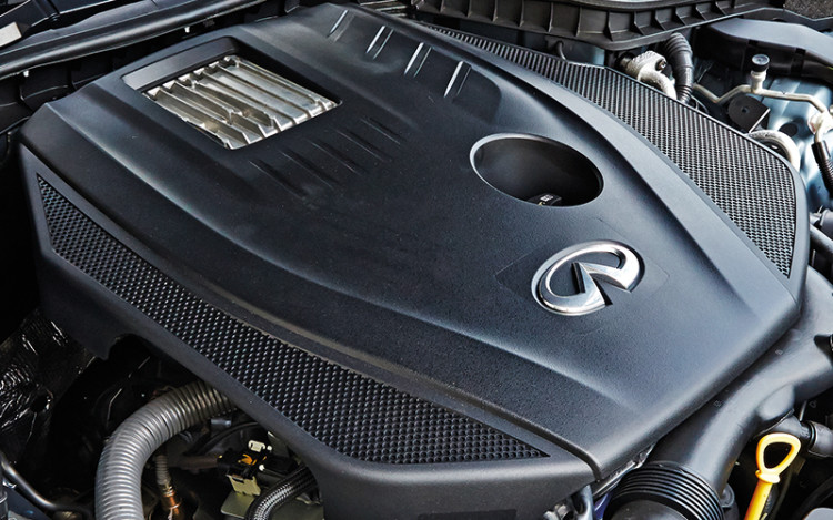 Q50's powertrain is smoother and sounds sportier.