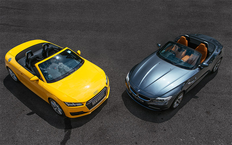 Group Test Audi Tt Roadster Vs Bmw Z4 Sdrive28i 2 0 Torque