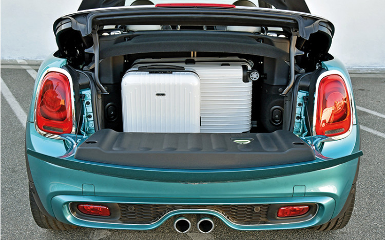 The Convertible is now more practical, thanks to the 25 percent increase in boot capacity.