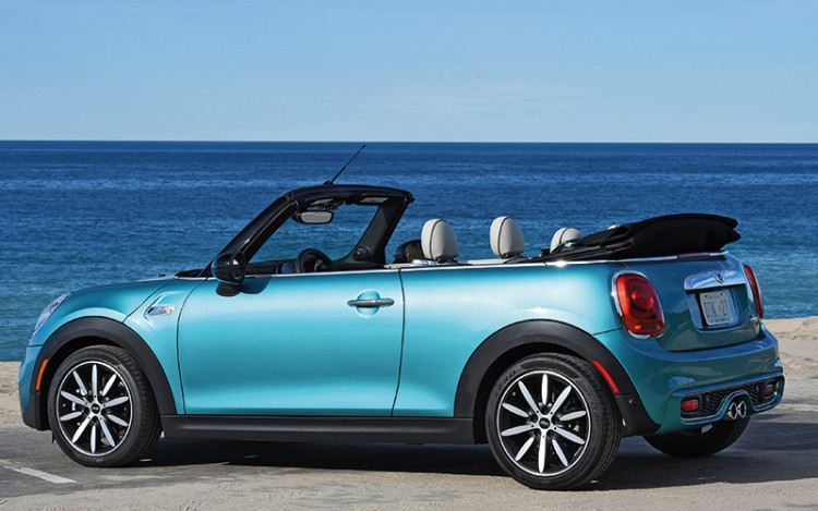 mini cooper s convertible static rear