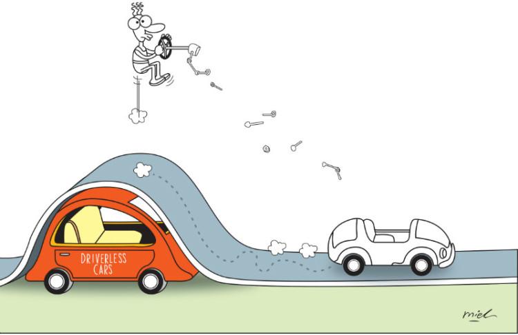 bumps along a driverless road