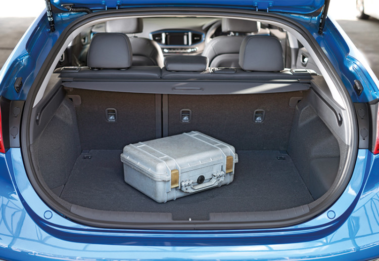 Boot capacity is 443 litres with the rear seatbacks up and 1550 litres when they're folded.