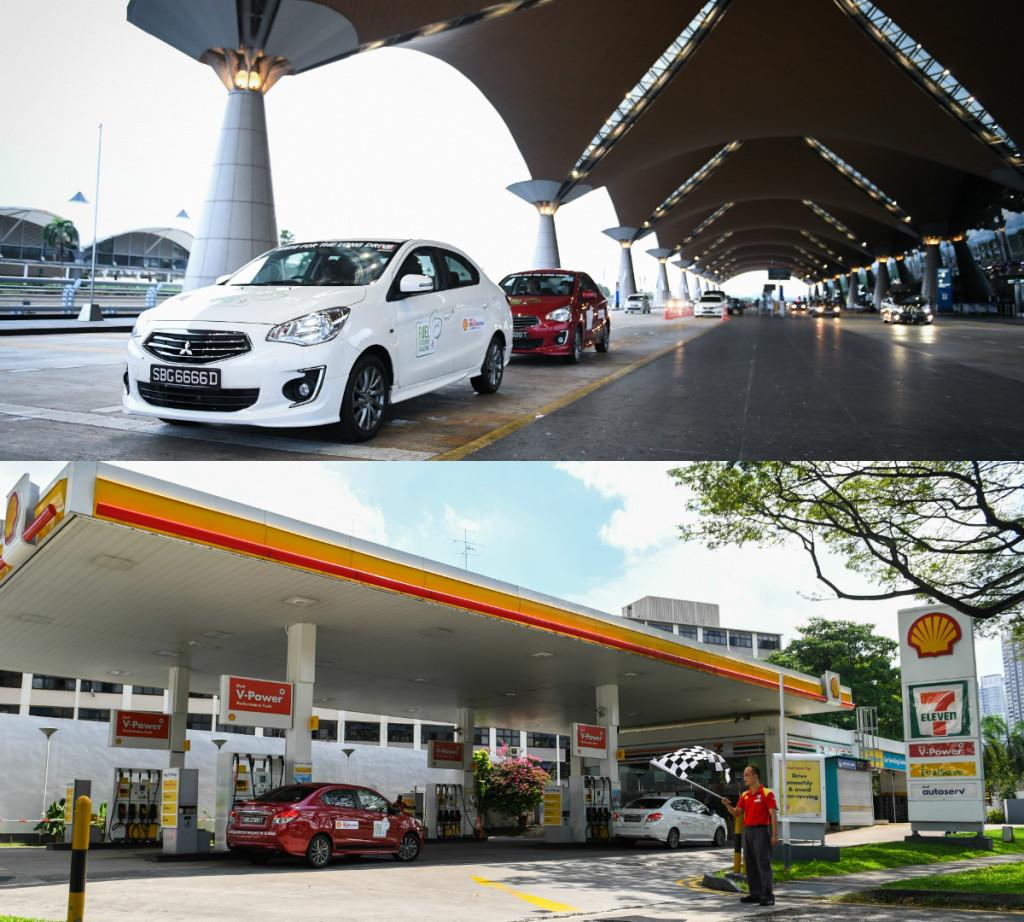 mitsubishi, attrage, mitsubishi attrage, fuel efficiency, fuel economy, shell, singapore, kuala lumpur pic2