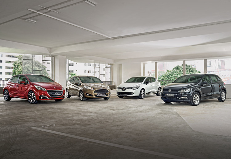peugeot 208, ford fiesta, renault clio, vw polo_front