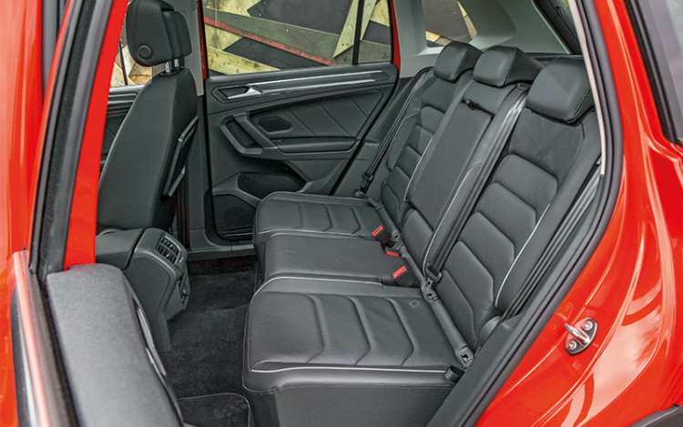 Rear seats can be slid backwards by 180mm to stretch the legroom.