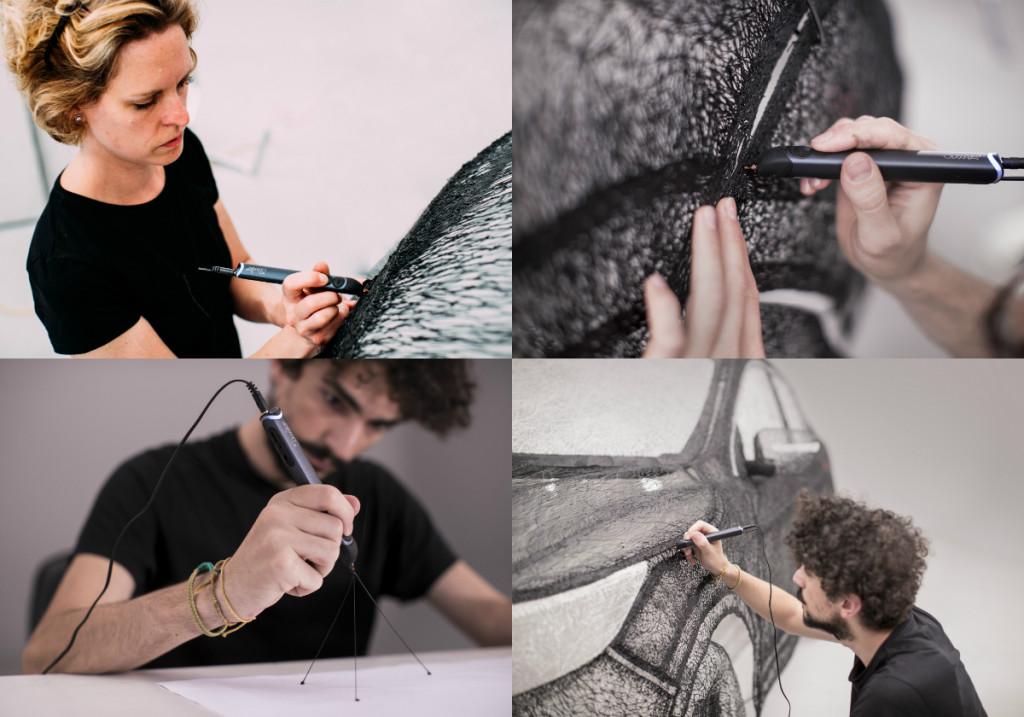 nissan, qashqai, nissan qashqai, 3d pen, 3d pen sculpture, crossover pic2