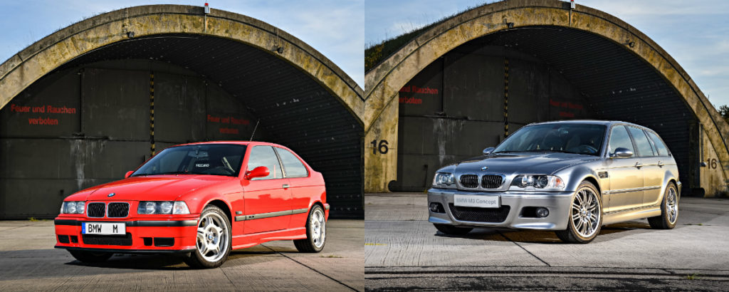 1996 M3 Compact prototype (left) and 2000 M3 Touring prototype (right).