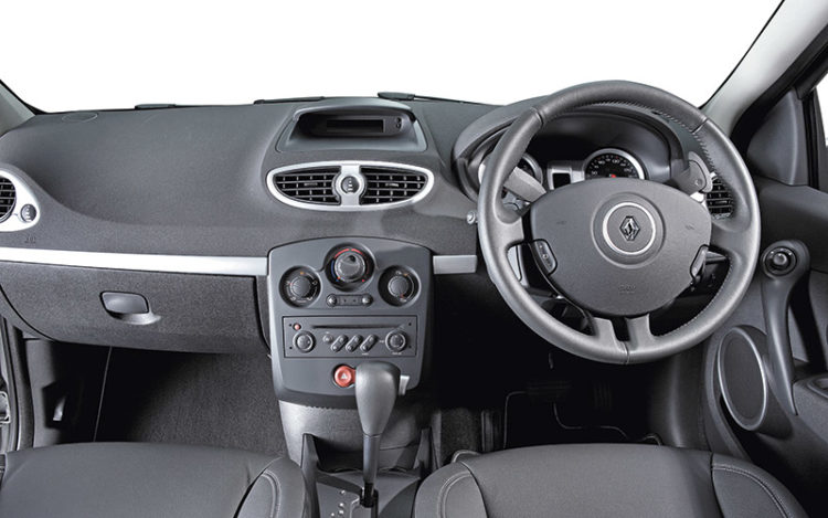 CLIO - Its cockpit is the most comfortable and expansive here, but its shift paddles are over-the-top compared with the Peugeot's, and its steering wheel is only tilt-adjustable. The glovebox is the most accommodating of the trio.