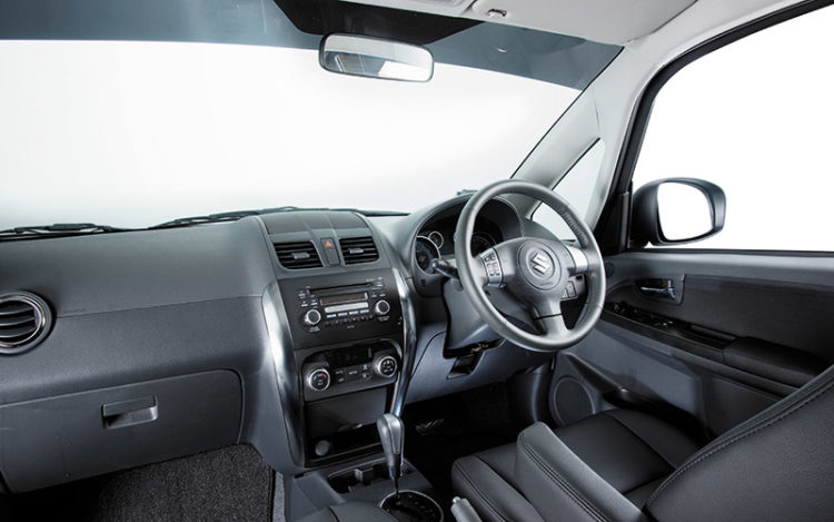SX4 - Driver's seat has the best size and shape of the group, and comes with a proper armrest. Also impressive is the excellent all-round visibility and the way the glovebox lid doesn't plonk down like the others'.