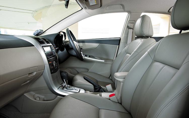 COROLLA ALTIS - Most practical of the bunch thanks to double glove compartments and deep door pockets. Overall layout caters to average drivers, making it easy for anyone to get in and start driving.