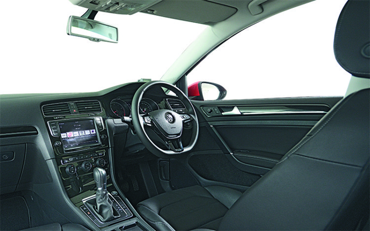 Volkswagen Golf's cockpit is the most practical and driver-friendly space, with the roomiest storage points, most intuitive infotainment system and the clearest all-round visibility. It's also the sole contender with a sunroof as standard.