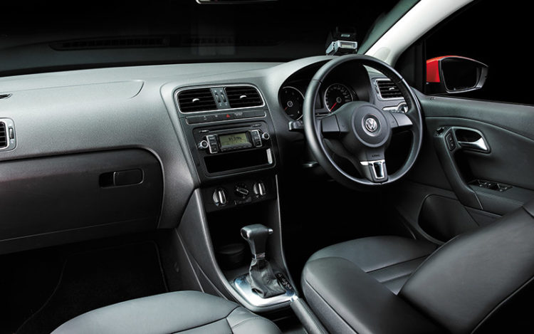 POLO - Logically laid-out cockpit is tops here for storage. Driver's seat boasts the best mix of comfort ?and support. Footwell is ?the roomiest by far.
