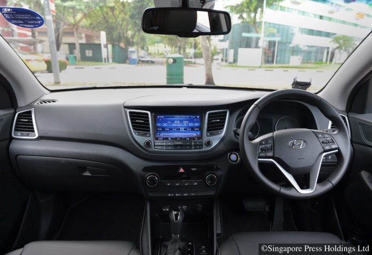 Interior of the Hyundai Tucson 1.6T.