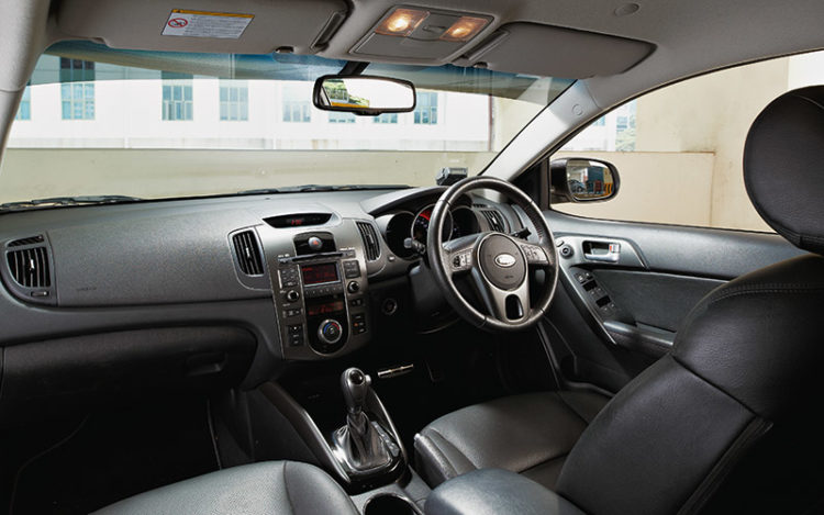 "CERATO FORTE - Most ergonomic cockpit here has the best seats in terms of comfort, with important controls all within easy reach. Headroom feels the lowest, but this Kia is the only one with ""extendable"" sunvisors and aluminium pedals."