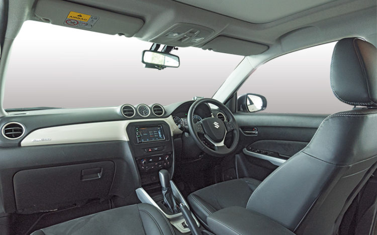 Vitara's cockpit is the most stylish, with dashboard panels in the same hue as the paintwork, plus a cool analogue clock. All-round visibility here is best, with the large windows by the C-pillars helping to reduce blind spots.
