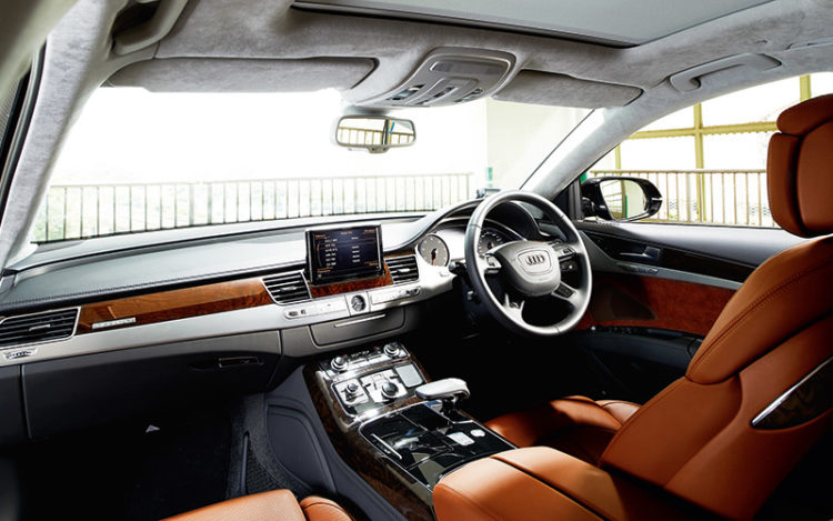 A8 - Has the best fit and finish, and is well-suited to towkays of all sizes, thanks to the seat bolstering, which is the most flexible of the three cars. The largest door bins make this cockpit the most convenient of the three as well.