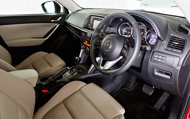 CX-5 - Most compact cockpit has the smallest and fewest storage points, but it's the best equipped, with standard features such as HID headlights and a tyre-pressure monitoring system.
