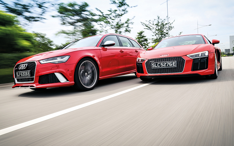 audi rs6 and audi r8