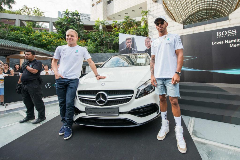 Mercedes amg petronas f1 drivers meet their fans in singapore torque m4hsunfo
