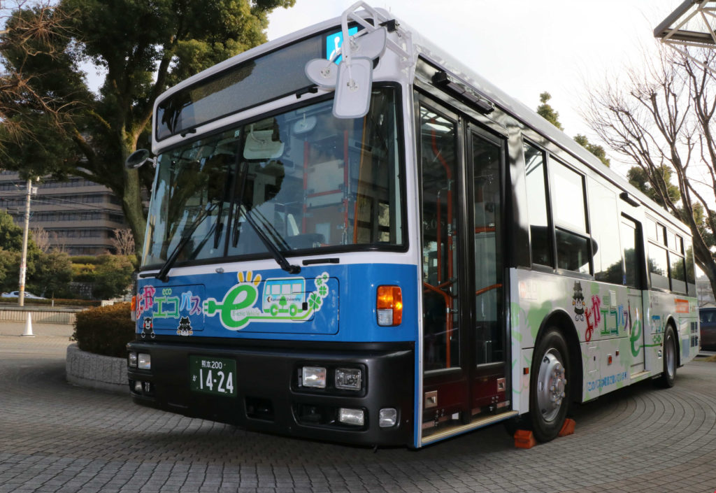 nissan leaf technology used in electric bus test