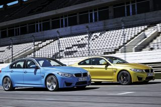 bmw m3 and bmw m4 side by side