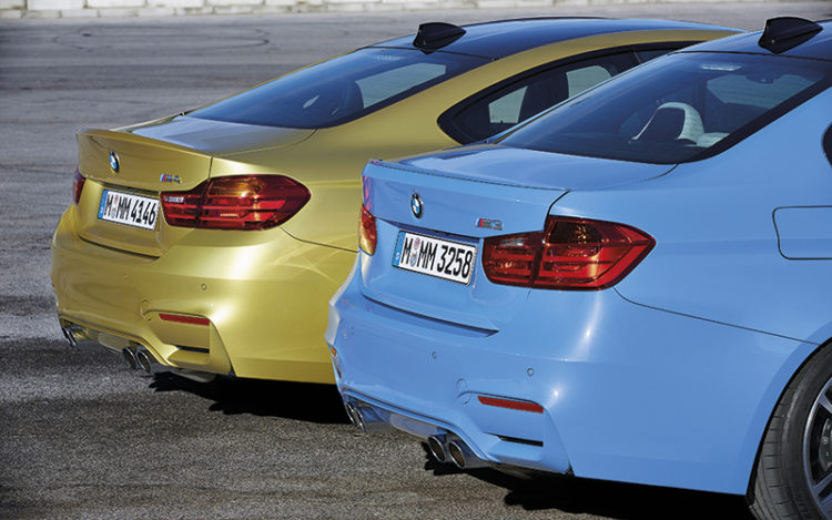 bmw m3 and bmw m4 rear