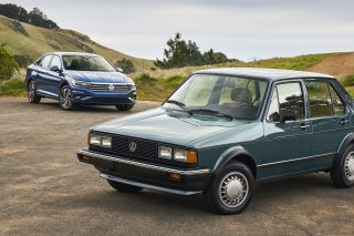 Volkswagen Jetta 2019 model meets 1980 model