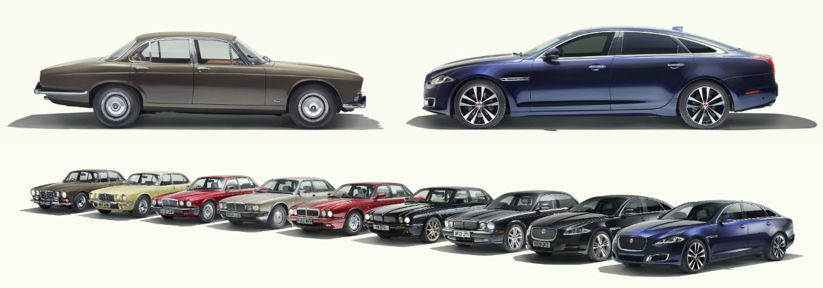 XJ50 celebrates five decades of Jaguar's legendary saloon ...