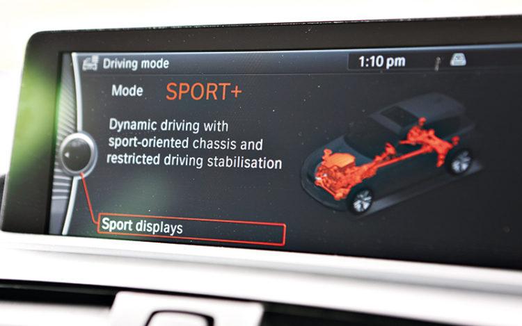 bmw-m135i-sport-mode-display