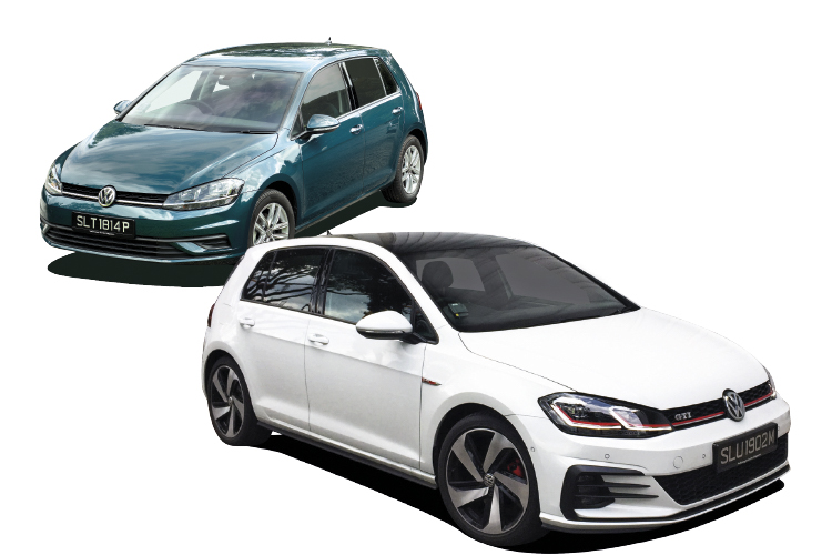 The 1-litre Golf TSI and 2-litre Golf GTI bookend Volkswagen's 2018 Golf range.