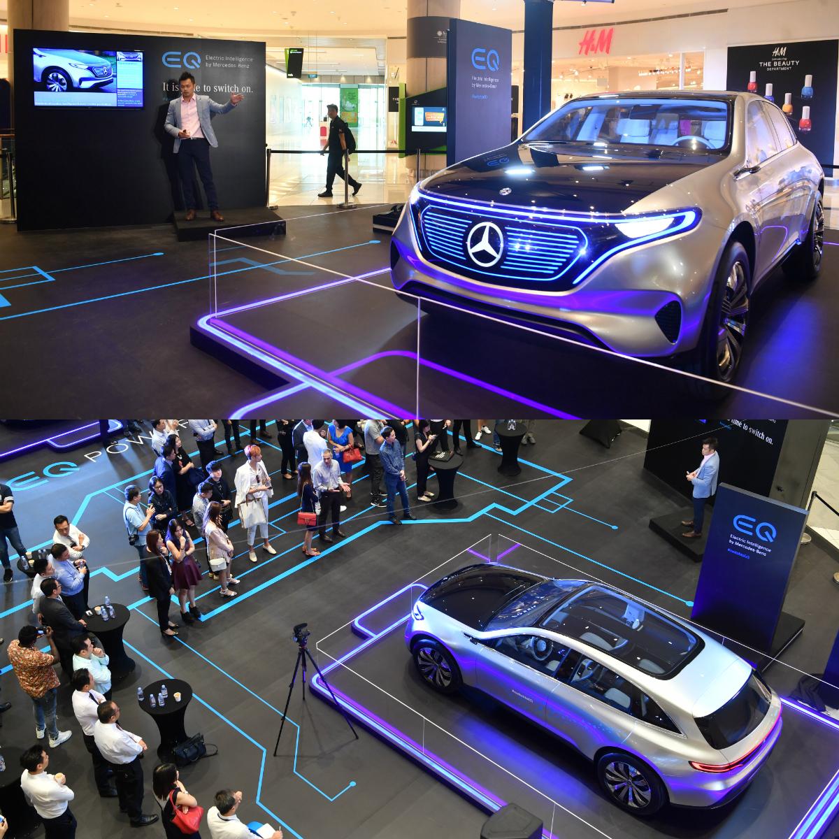 Mercedes-Benz Concept EQ At Suntec City