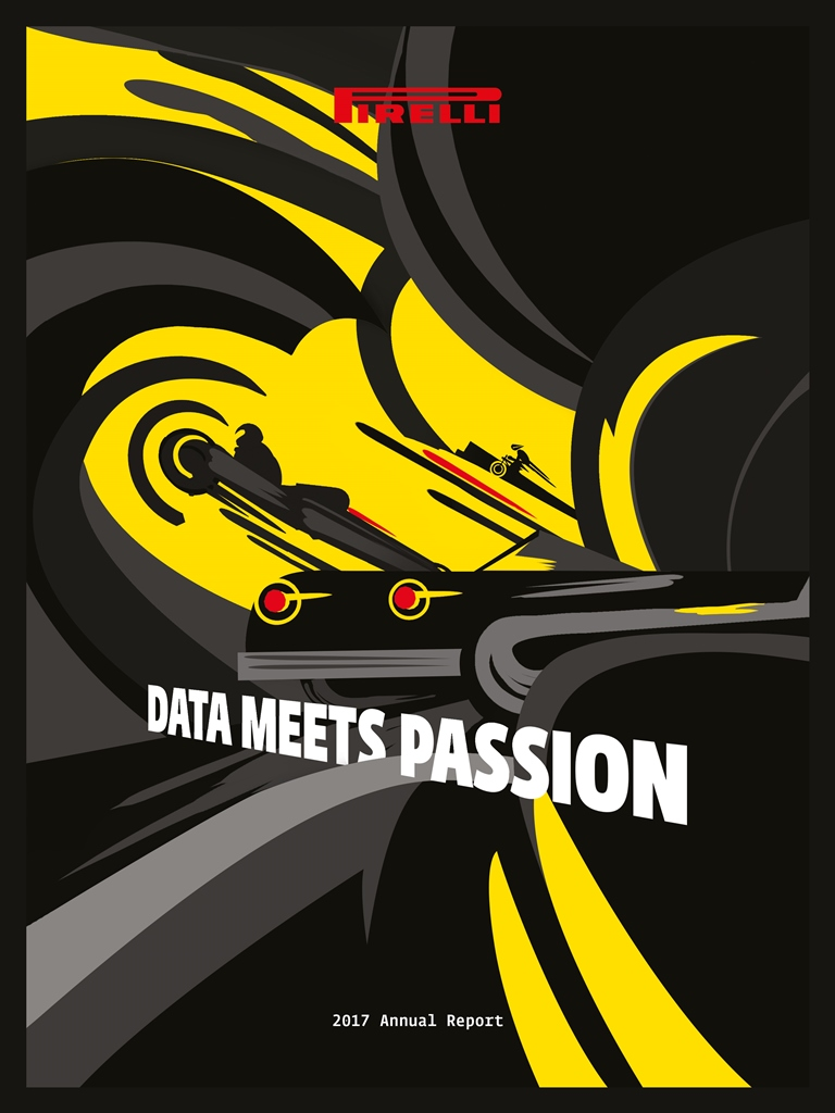 """Data meets passion"" is the title of Pirelli's 2017 Integrated Annual Report, which continues what has now become a Pirelli tradition of presenting its annual report by going beyond numbers to art and literature."
