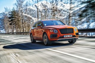 bentley bentayga v8 front tracking