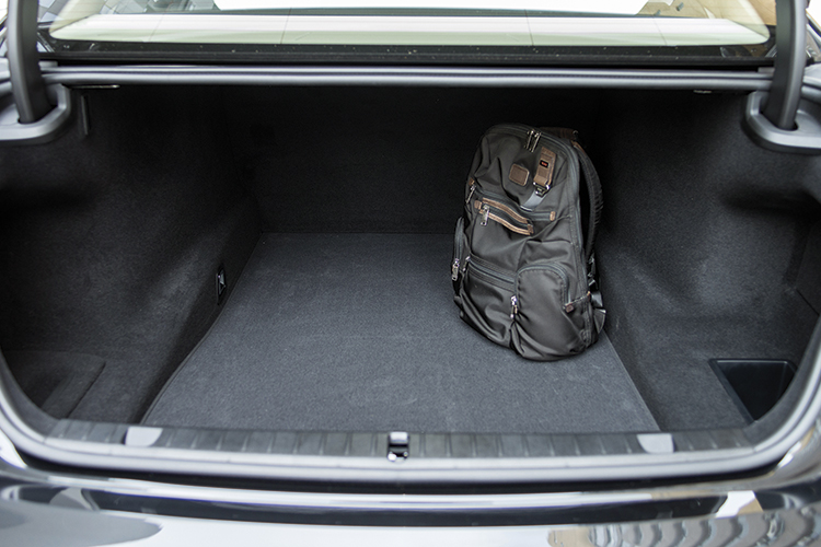 BMW 740Li's boot.