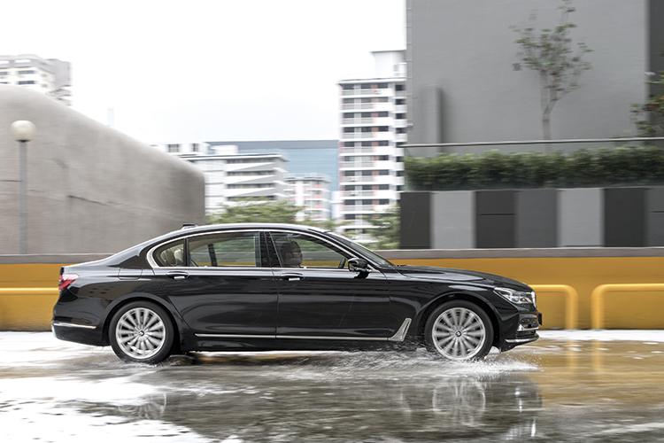 The BMW 740Li's rear-wheel-steering system makes it feel like a much smaller saloon.