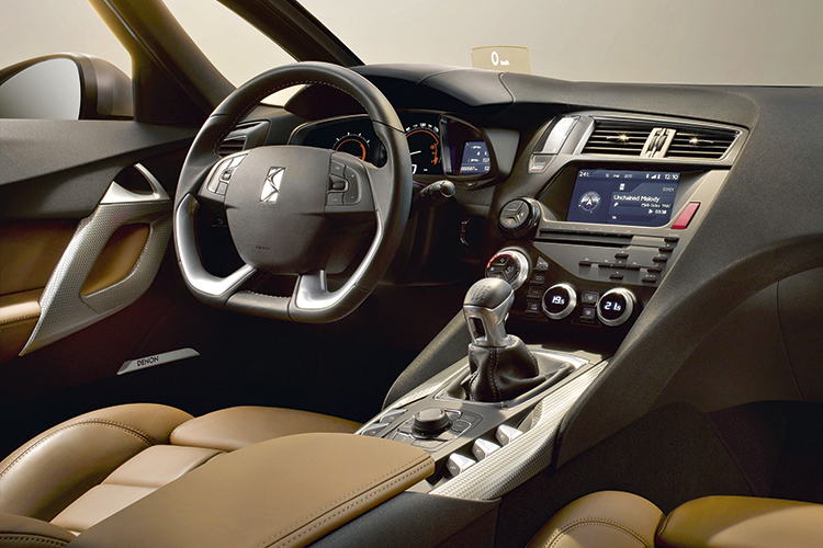 This is a Gallic grand tourer cockpit for the driver who appreciates genuine luxury and the latest amenities.