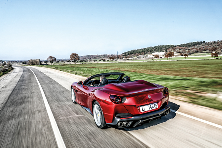 ferrari portofino rear tracking