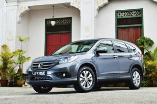 honda cr-v front static