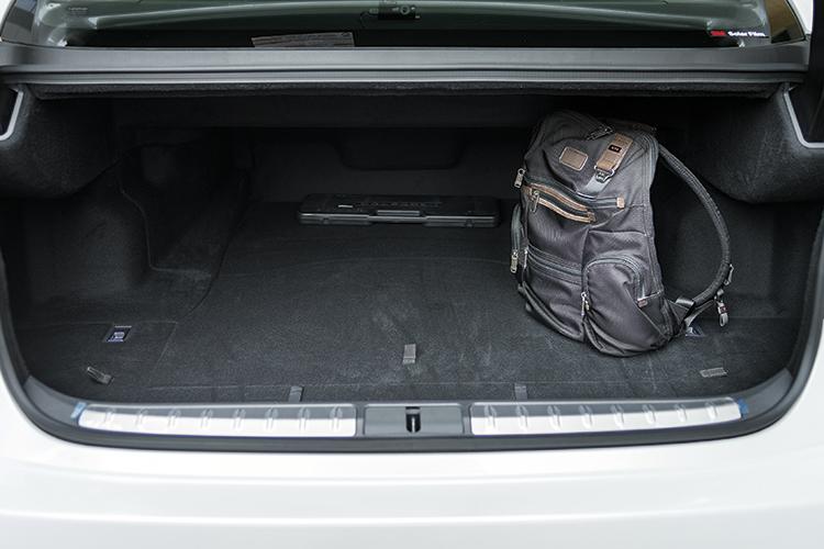 The Lexus LS350's boot.