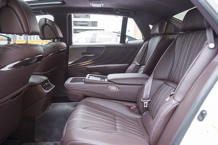 Lexus LS350's backseat.