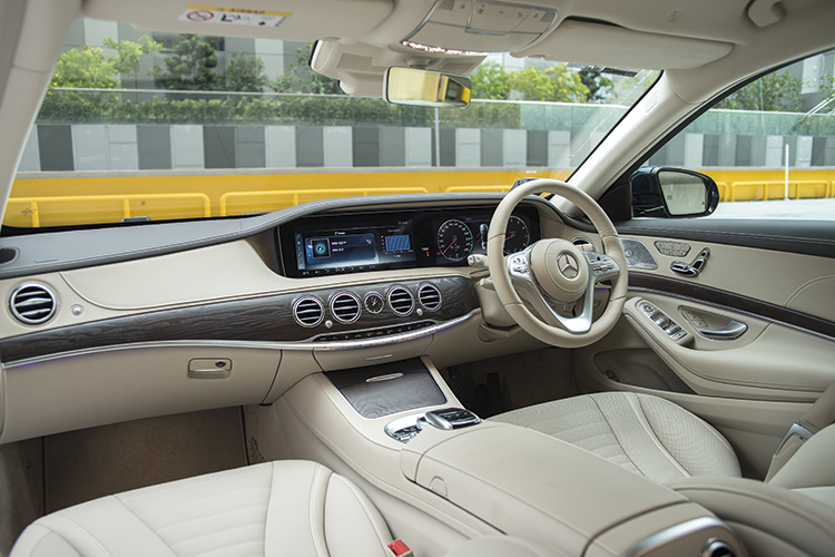 Mercedes-Benz S320L's cabin looks the swankiest.